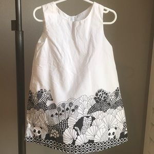 Black and white jungle print dress 3T